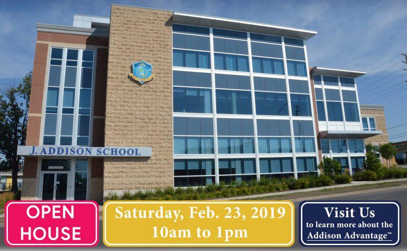 Open House: Saturday, Feb. 23, 2019
