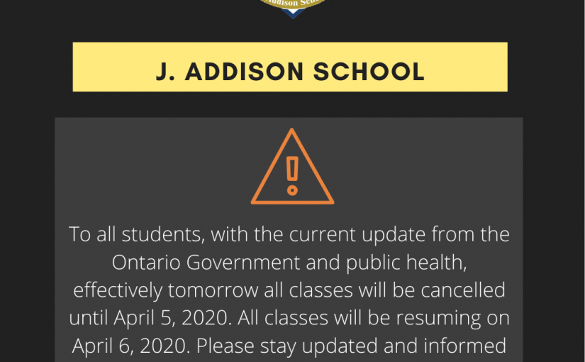 J. Addison School COVID-19 Update